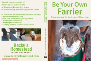 Be Your Own Farrier DVD Cover – Front & Back