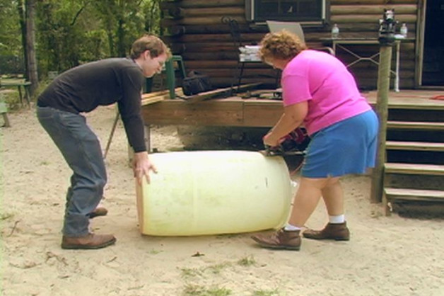 Make a Raised Garden from a Rain Barrel